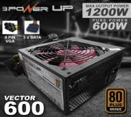 Power Supply Psu 3 Power Up Vector 600 80 Bronze 600W 600 W